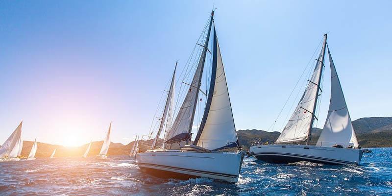 Homemade sailboats regatta
