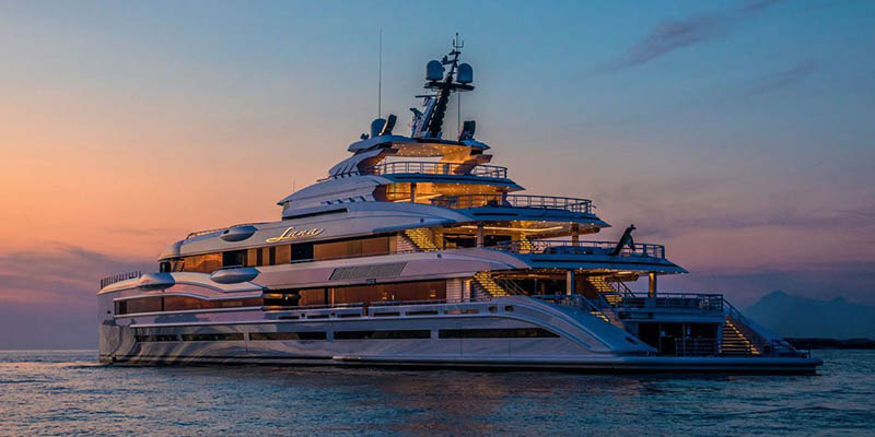 Most luxurious yachts